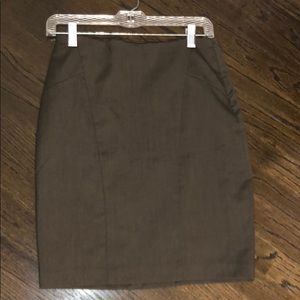 limited brown pencil skirt